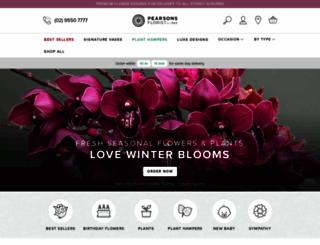 pearsonsflorist.com.au screenshot