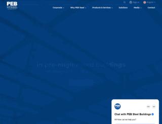 pebsteel.com screenshot
