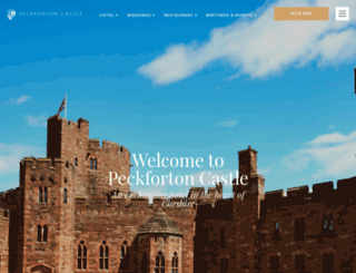 peckfortoncastle.co.uk screenshot