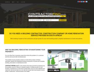 pecontractors.co.za screenshot