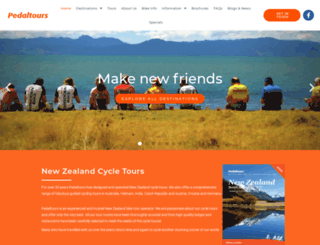 pedaltours.co.nz screenshot