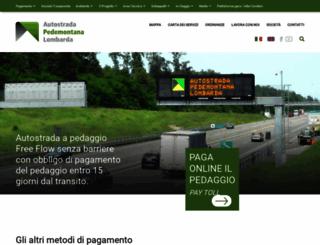 pedemontana.com screenshot
