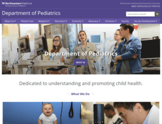 pediatrics.northwestern.edu screenshot
