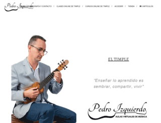 pedroizquierdo.com screenshot