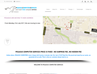 pegasuscomputer.com.au screenshot