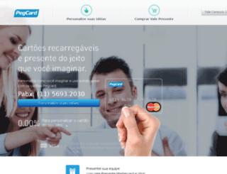 pegcard.com.br screenshot