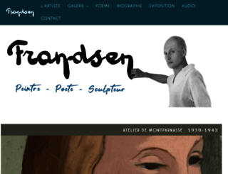 peintre-emile-frandsen.com screenshot