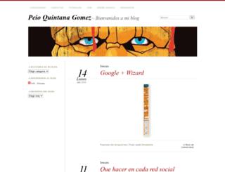 peioquintana.wordpress.com screenshot