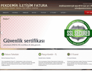pekdemiriletisimfatura.com screenshot
