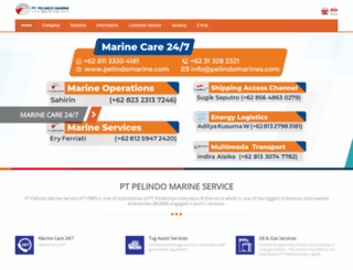 pelindomarine.com screenshot