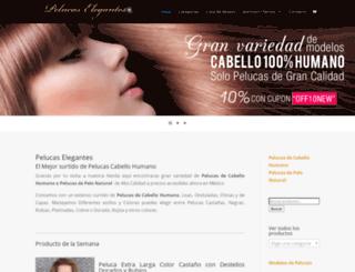 pelucaselegantes.com screenshot