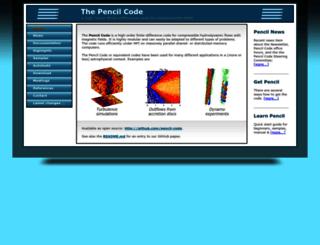 pencil-code.nordita.org screenshot