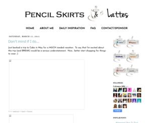 pencilskirtsandlattes.com screenshot