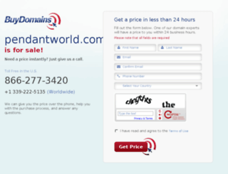 pendantworld.com screenshot