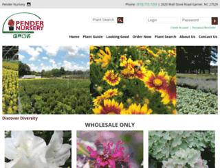 pendernursery.com screenshot