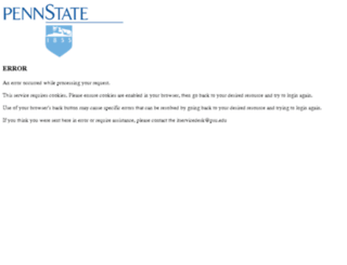 pennstate.service-now.com screenshot
