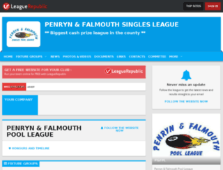 penrynandfalmouthpoolleague.leaguerepublic.com screenshot