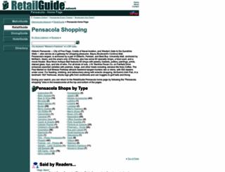 pensacola.retailguide.com screenshot