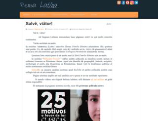 pensalatina.es screenshot