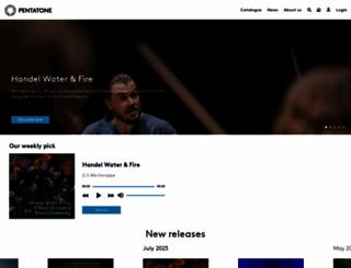 pentatonemusic.com screenshot