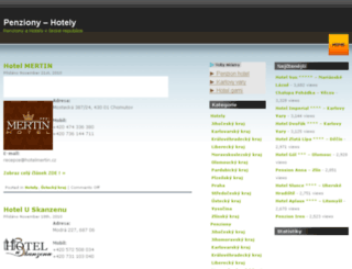 penziony-hotely24.cz screenshot