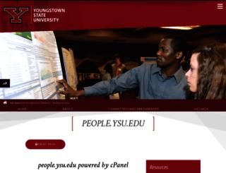 people.ysu.edu screenshot