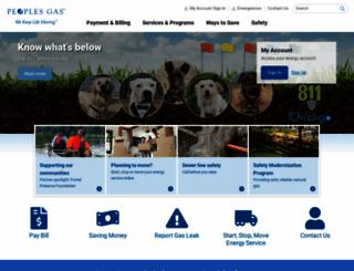 peoplesgasdelivery.com screenshot
