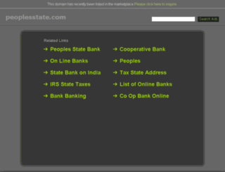 peoplesstate.com screenshot