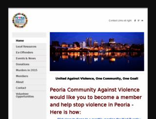 peoriacommunityagainstviolence.weebly.com screenshot