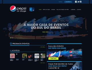 pepsionstage.com.br screenshot