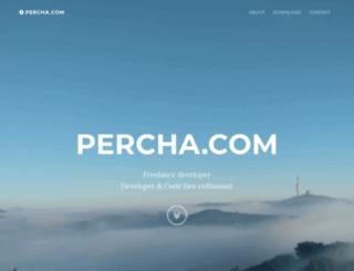 percha.com screenshot