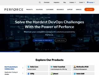 perforce.com screenshot