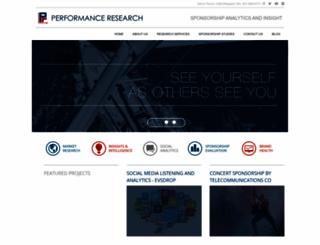performanceresearch.com screenshot