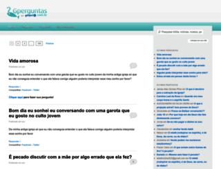 perguntas.gospelmais.com.br screenshot