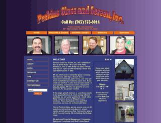perkinsglassandscreeninc.com screenshot