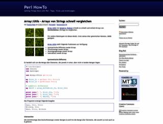 perl-howto.de screenshot