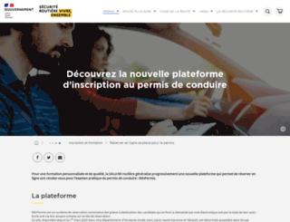 permisdeconduire.gouv.fr screenshot