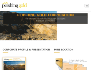 pershinggold.com screenshot