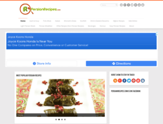 persianrecipes.com screenshot