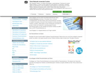 persoenlichkeitstest.org screenshot