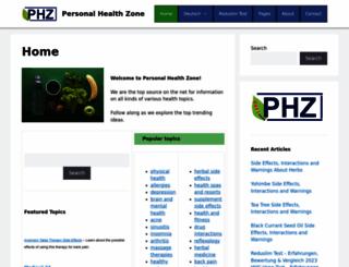 personalhealthzone.com screenshot
