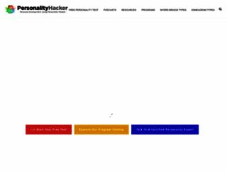 personalityhacker.com screenshot