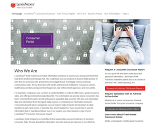 personalreports.lexisnexis.com screenshot