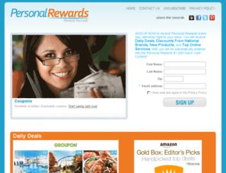 personalrewards.com screenshot