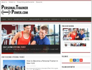 personaltrainerpower.com screenshot