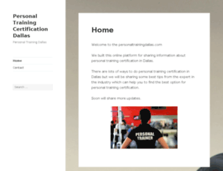 personaltrainingdallas.com screenshot