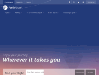 perthairport.com screenshot