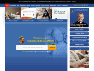 perthcatholic.org.au screenshot
