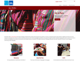 peru.sil.org screenshot