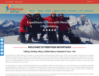 peruvian-mountains.com screenshot
